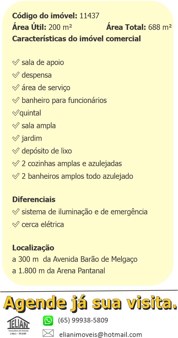 Ponto comercial  com 4 quartos no Porto, Cuiabá  - MT